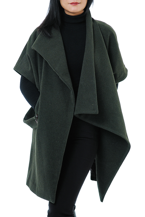 Syd's charcoal cape/coat