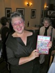 Anne & her copy of Menopause in Manhattan