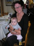 Proud & very young grandma Esty with Goni